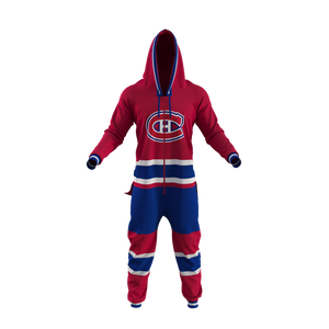 Montreal Canadiens NHL Onesie Pajama - front view