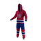 Montreal Canadiens NHL Onesie Pajama - 40 degree front view angle