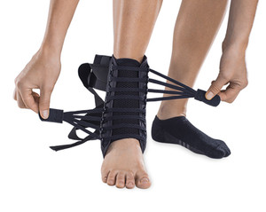 Chronic Ankle Instability Brace with Wick-Mesh Lining