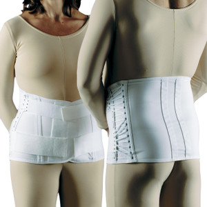 LUMBOSACRAL SUPPORT HOOK 'N PILE CLOSURE & STRAPS