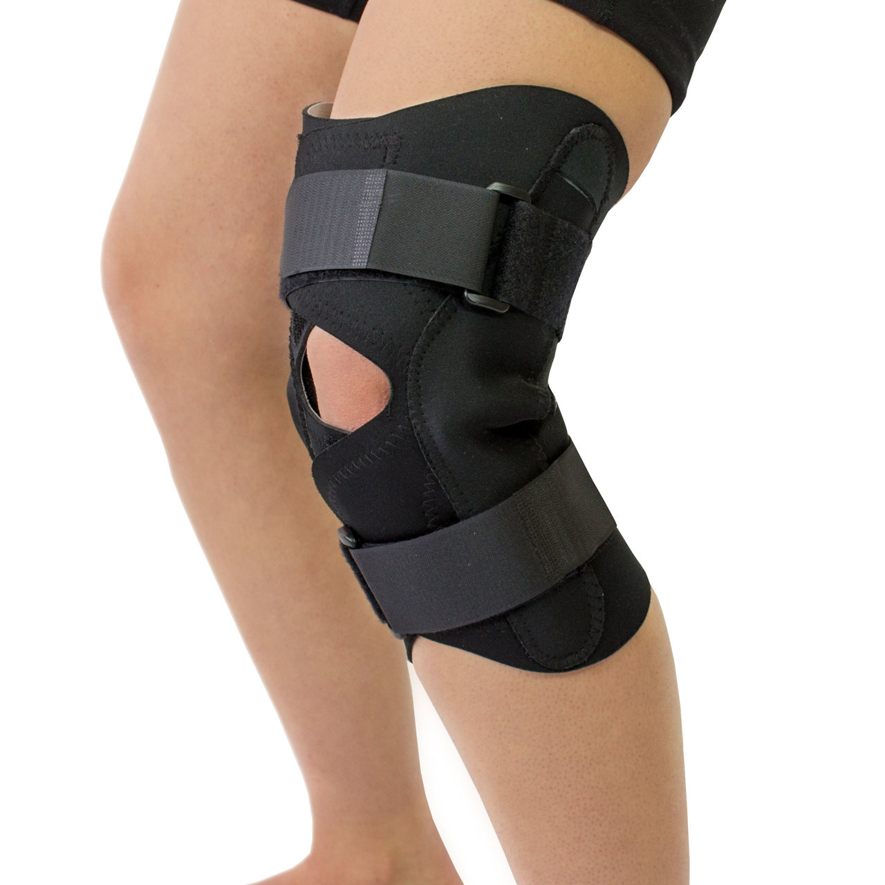 Obesity Joint Pain Support Wraparound Hinged Knee Brace
