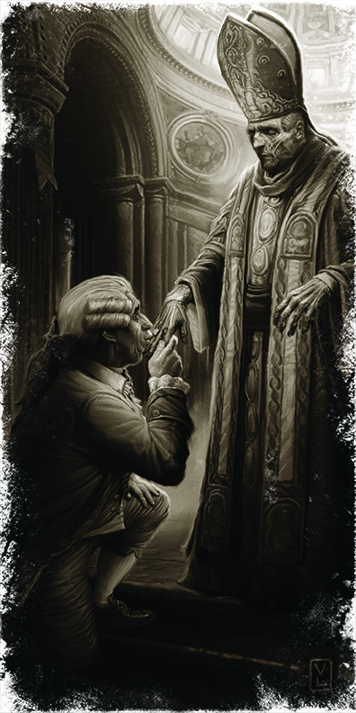 Image of a pope without a skin
