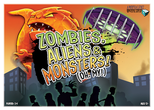 Liz Gridley Box Design Zombies Aliens Monsters Oh My