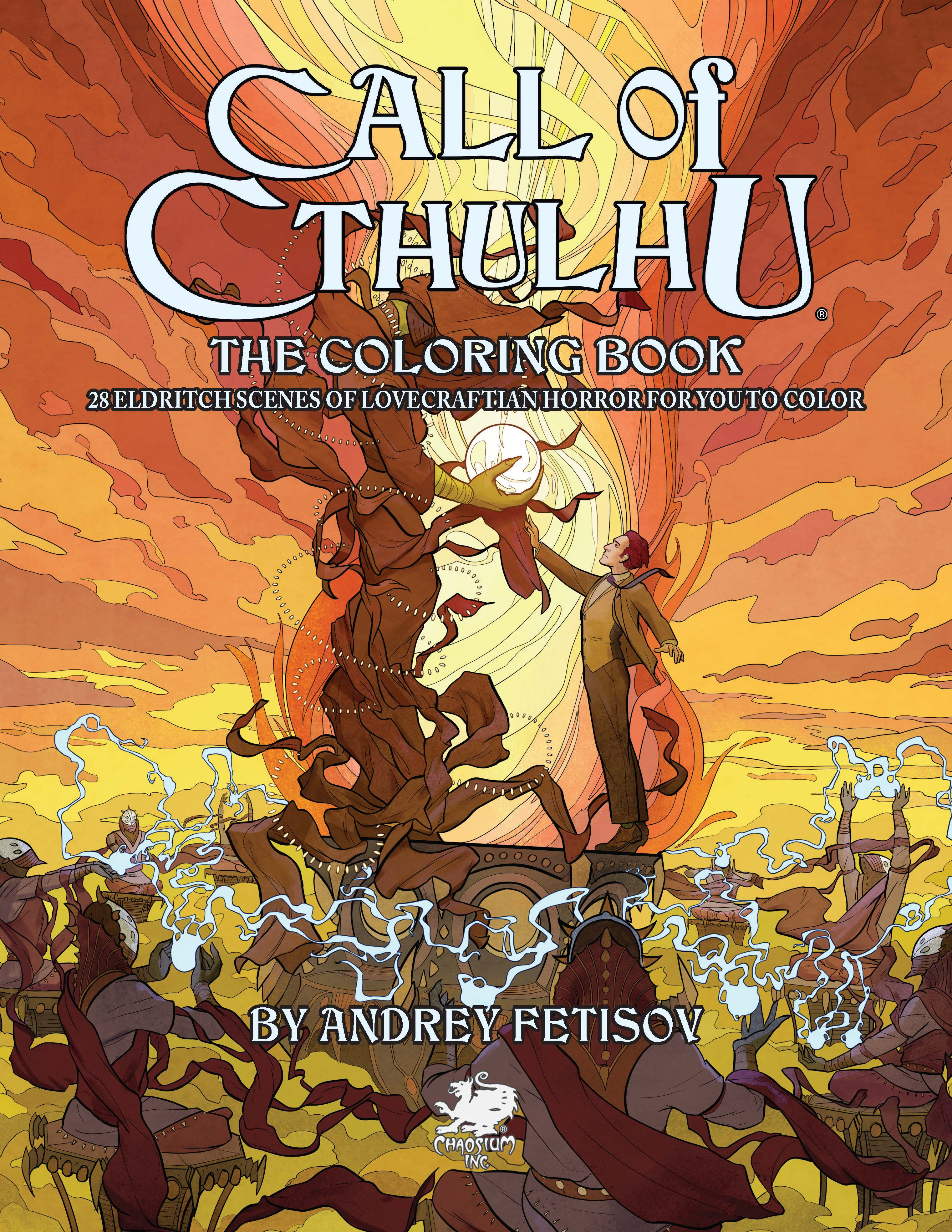 Call of Cthulhu Coloring Book - Front Cover