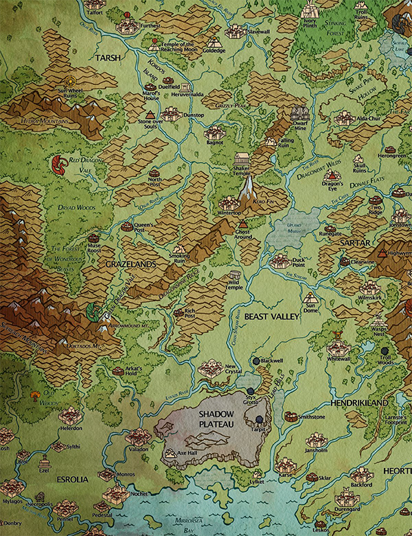 Map of Dragon Pass