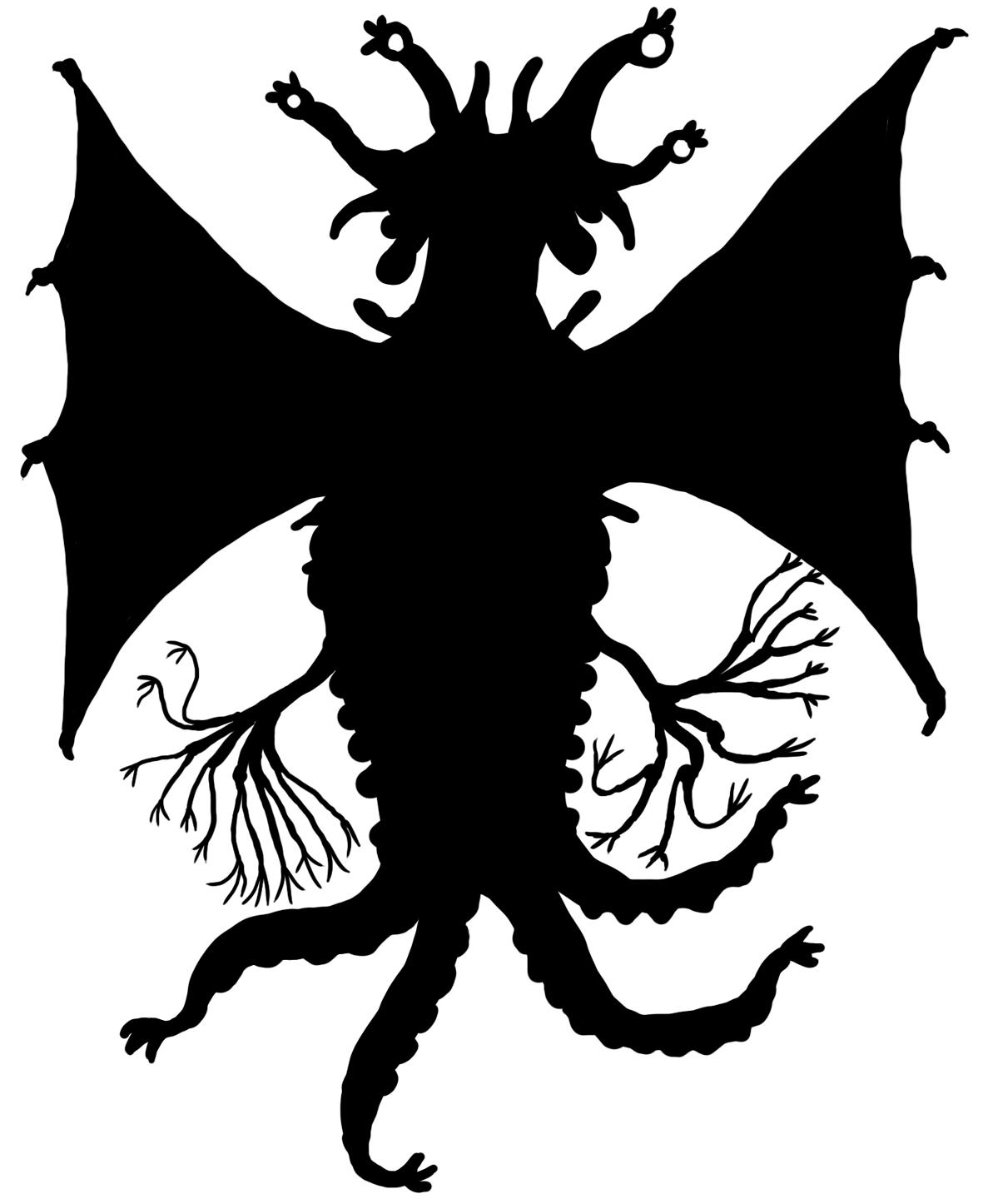 Elder Thing Silhouette - Miskatonic Repository Image