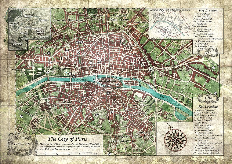Map of Paris 1789-1794
