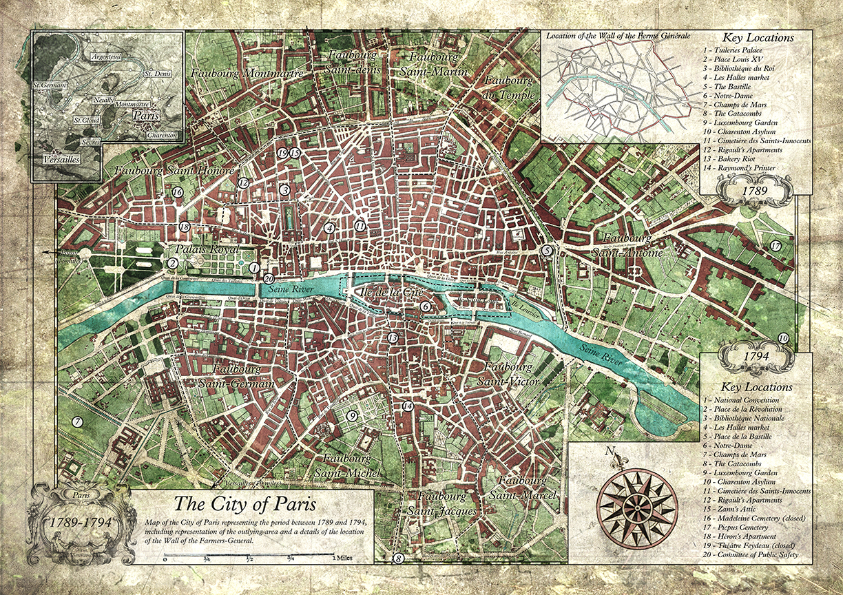 Map of Paris 1789-1794