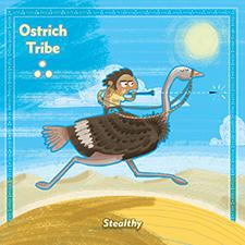 Ostrich Khan Card