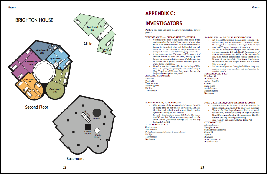 Interior pages Plague - Miskatonic Repository