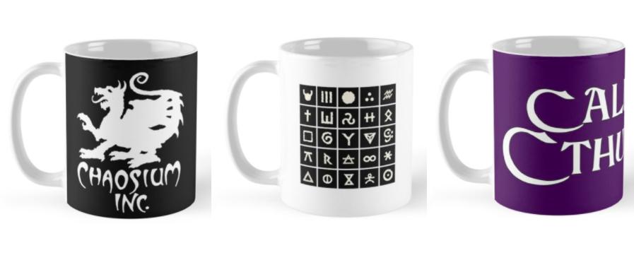 Redbubble Chaosium Mugs