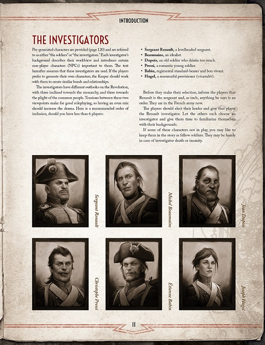 Reign of Terror - Investigator Page