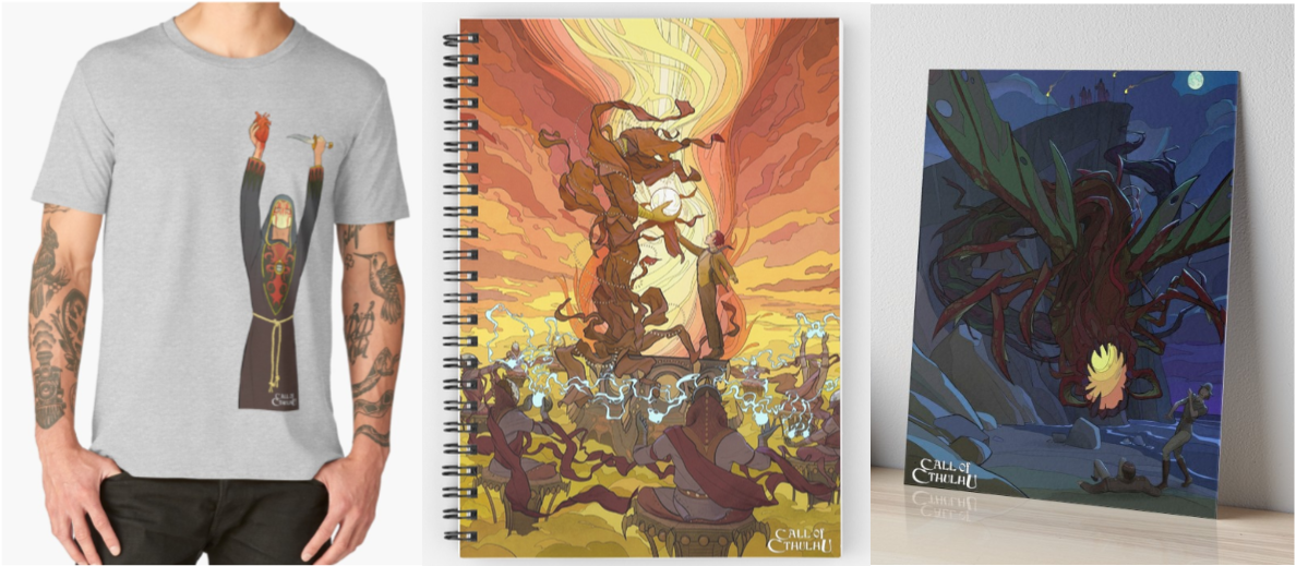 Redbubble Merchandise For Call Of Cthulhu The Coloring Book