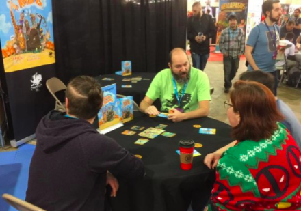 Todd demoing Khan of Khans at PAX Unplugged