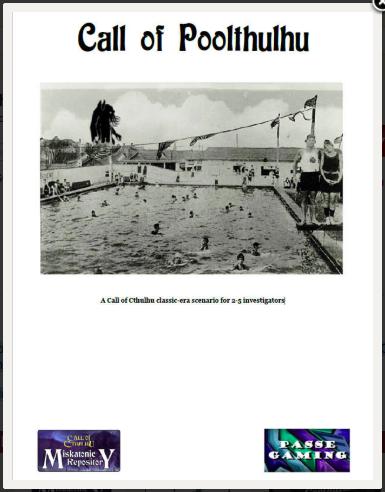 Call of Poolthulhu - Miskatonic Repository