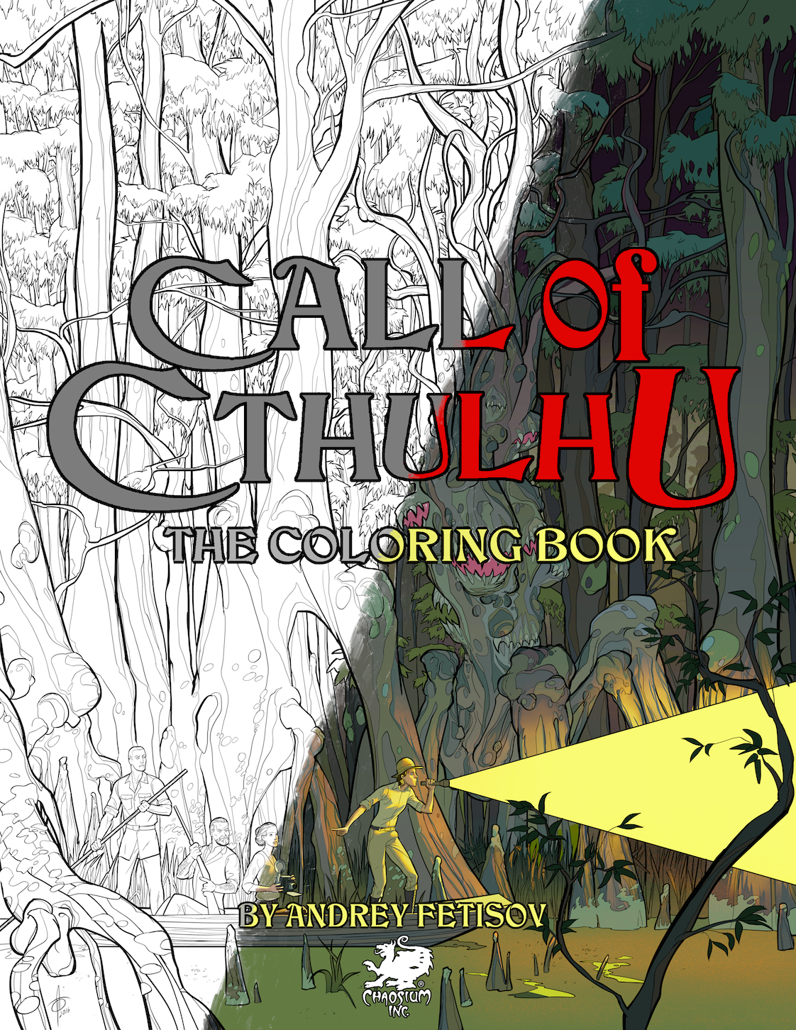 Call of Cthulhu—The Coloring Book features 28 eldritch scenes of ...