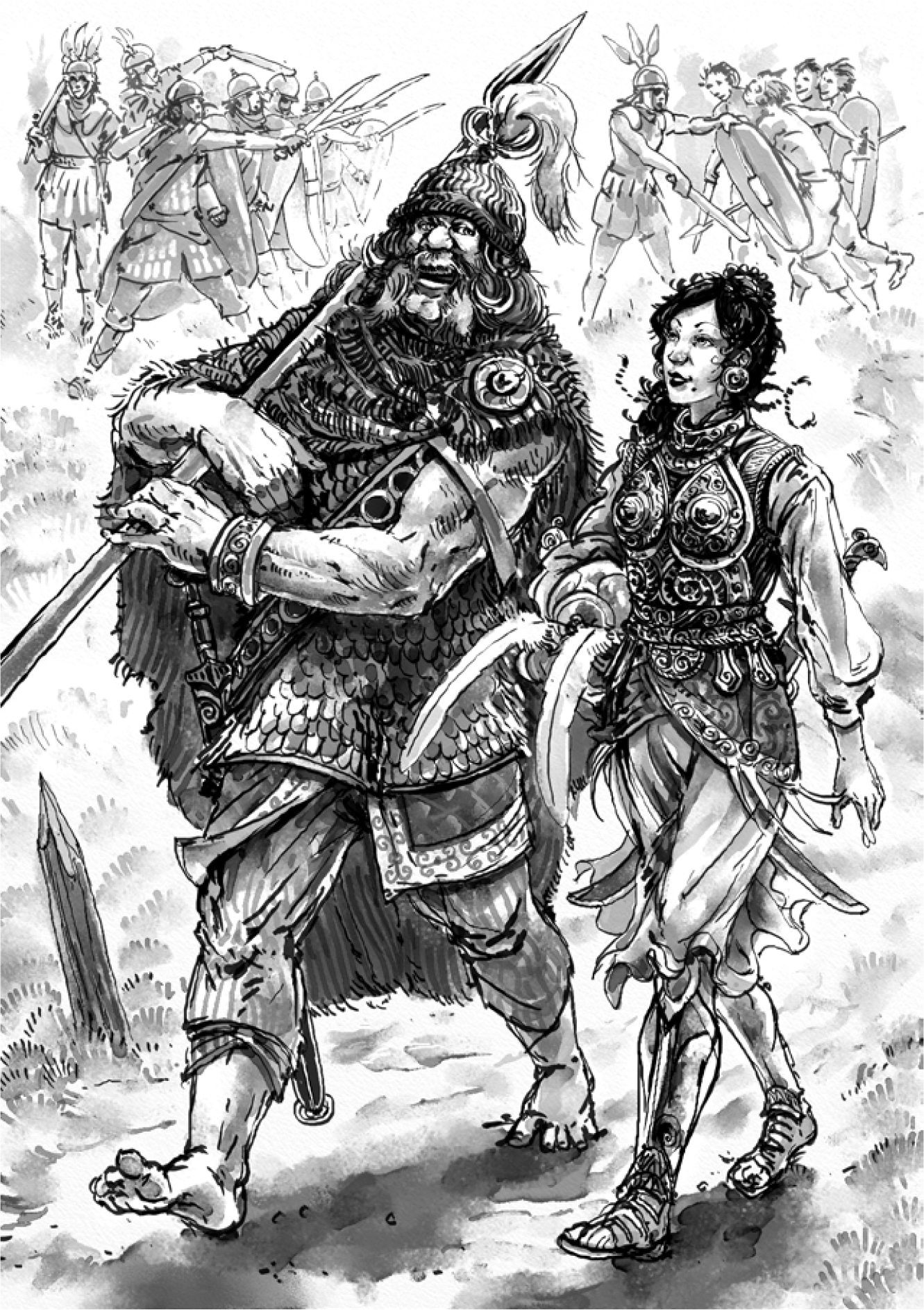 Two Warriors in Glorantha