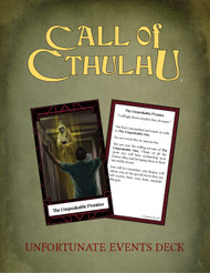 Unfortunate Events Call of Cthulhu Keeper Deck PDF