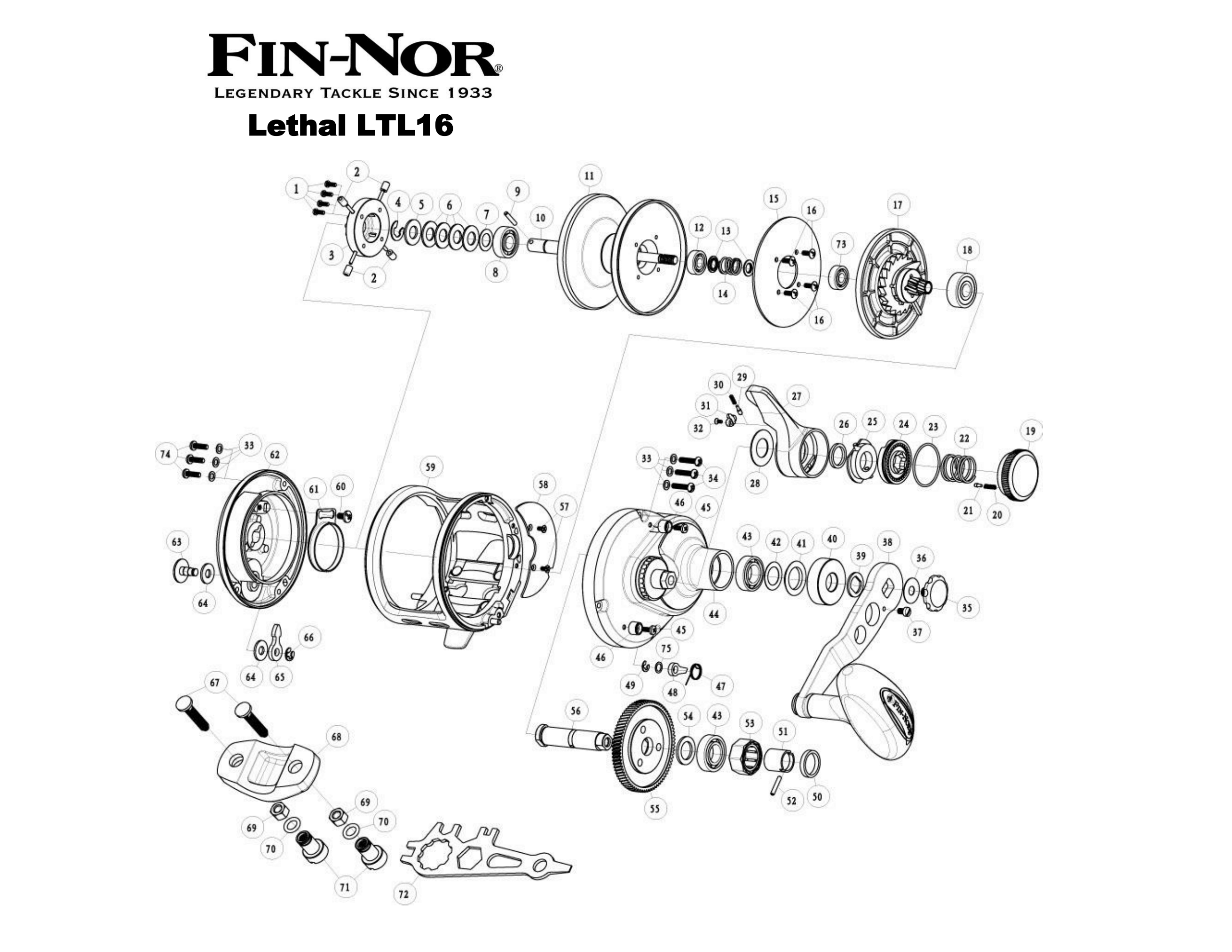 Reel Parts - Fin-Nor Parts - FIn-Nor Lever Drag Parts - Fin-Nor ...