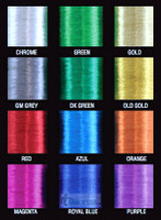 Chrome Metallic Thread size D, 100yds