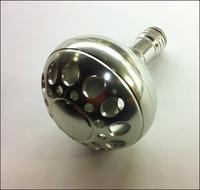 Round Silver Aluminum Power Knob, 47mm