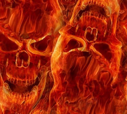 skulls fire