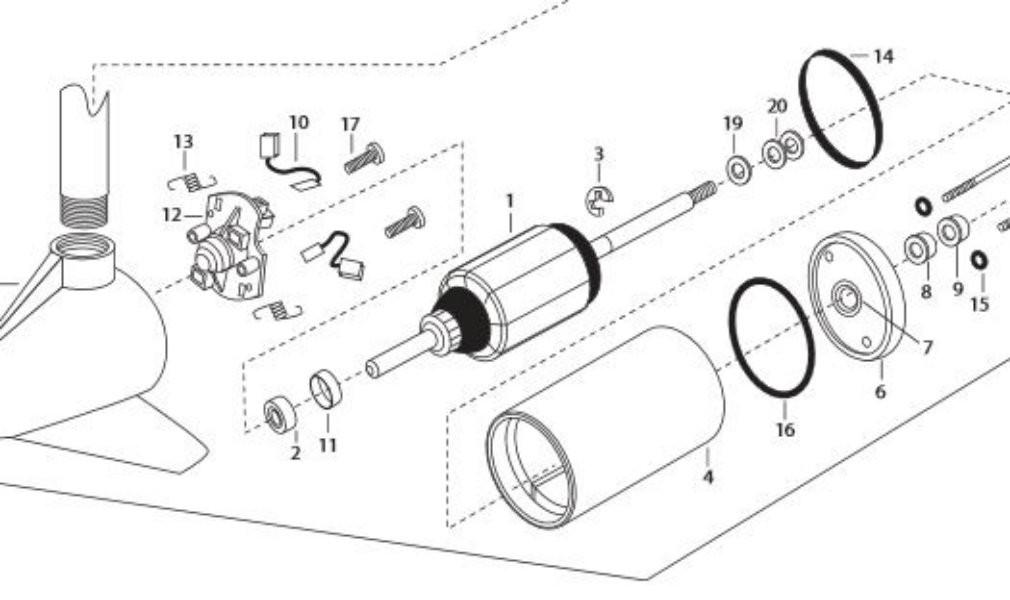 minn kota 3 5 8 motor rebuild kit mikes reel repair rh mikesreelrepair com