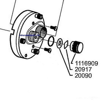 Ambassadeur 1116909 KIT - Spool Cap Kit - 3pcs