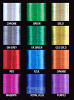 Green Metallic Thread size D, 100yds