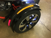 FRONT FENDER COMPLETE LED REFLECTOR KIT BY SHOW CHROME. FITS ALL F3 SPYDERS WITH THE NEW STYLE FENDERS.INCLUDES CUSTOM PLUG AND PLAY WIRING HARNESS.