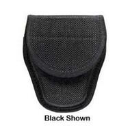 7300 Series AccuMold Covered Handcuff Case - Hidden Snap Closure, Size 1, Black