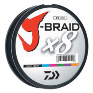 J-Braid Braided Line, 40 lbs Tested - 330 Yards/300m Filler Spool, Multi Color