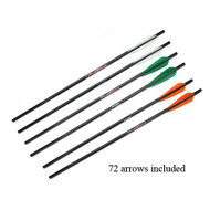 "Carbon Gold Tip Arrows 20"" - Per 72"