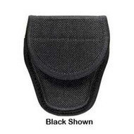 7300 Series AccuMold Covered Handcuff Case - Hidden Snap Closure, Size 2, Black