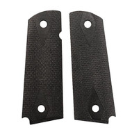 """1911 Government/Commander 3/16"""" Thin Grip - G-10 Checkered Solid Black"""