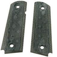 """1911 Government/Commander 3/16"""" Thin Grip - G-10 Checkered G-Mascus Green"""