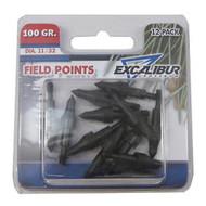 """Field Points, 11/32"""", 12 Pack - 100 Grain"""