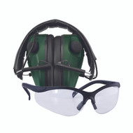 E-Max Electronic Hearing Protection - Low Profile w/Shooting Glasses
