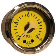 VDO Allentare Yellow/Blue 40PSI Mechanical Water Pressure Gauge
