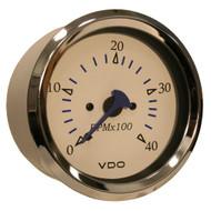 VDO Allentare White 4000RPM 3-3/8 (85mm) Diesel Tachometer (Alternator) - 12V