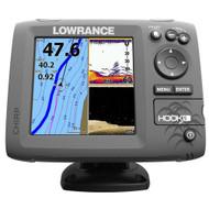 Lowrance HOOK-5 Combo w/83/200/455/800 HDI Transom Mount Transducer & Navionics+ Chart
