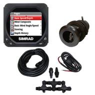 Simrad IS40 Speed/Depth Package w/Nylon Thru-Hull Triducer