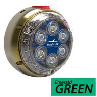 Bluefin LED DL12 Underwater Dock Light - Surface Mount - 24V - Emerald Green