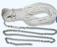 Lewmar 20'5/16 G4&200' 9/16 Line With 3/8 Shackle