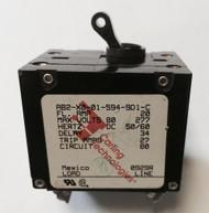 Newmar 30 Amp Double Pole Breaker W/ Black Throw