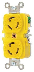 Hubbell HBL47CM00 15A 125V Duplex Locking Receptacle
