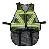 Cycling Safety Vest - Green/White