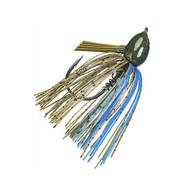 Hack Attack Fluoro Flipping Jig - 5/0 Hook, 1/2 oz, Okeechbee Craw, Per 1
