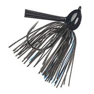 Hack Attack Fluoro Flipping Jig - 5/0 Hook, 1/2 oz, Black/Blue, Per 1