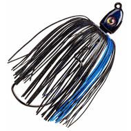 Swinging Swim Jig - 1/2 oz, 4/0 Hook, Black/Blue, Per 1